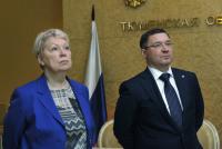 Министр Ольга Васильева встретилась с губернатором Владимиром Якушевым