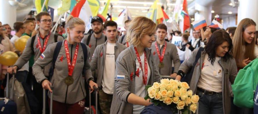 Победителей EuroSkills Budapest 2018 торжественно встретили в Москве
